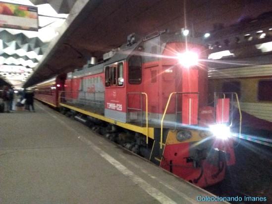 Llegada del tren Flecha Roja a San Petersburgo