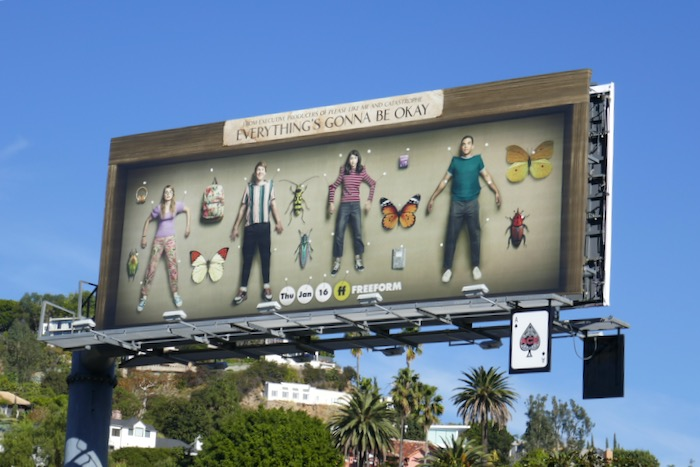 Everythings Gonna Be Okay series premiere billboard