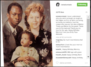 adunni ade mother and father photo,actress with her parents,