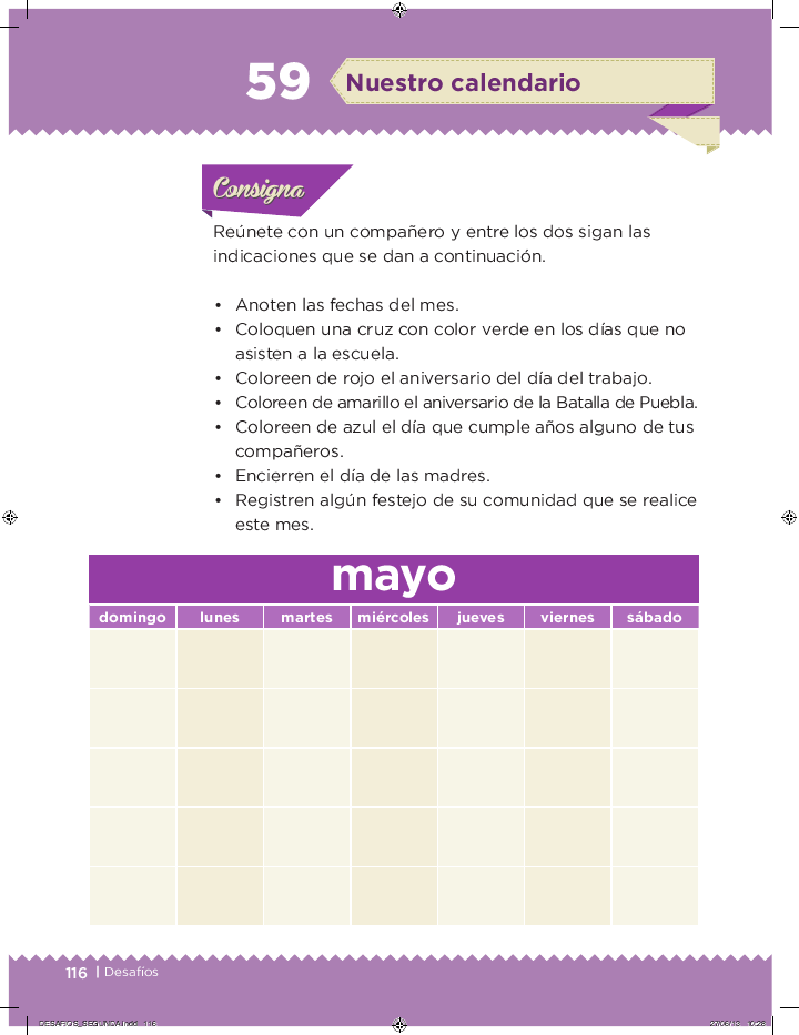 Nuestro calendario desafios matemáticos 2do bloque 5/2014-2015