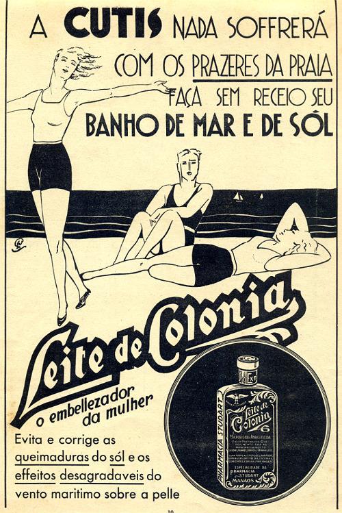 Propaganda do Leite de Colônia em época que o produto não tinha sua produção industrial lançada no mercado