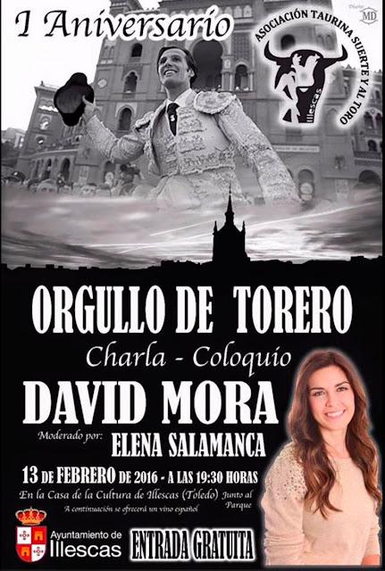 Cartel del I aniversario de la asociacion taurina Suerrte y al Toro. IMAGEN COMUNICACION ILLESCAS