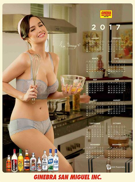 Kim domingo was officially revealed as ginebra s calendar girl for