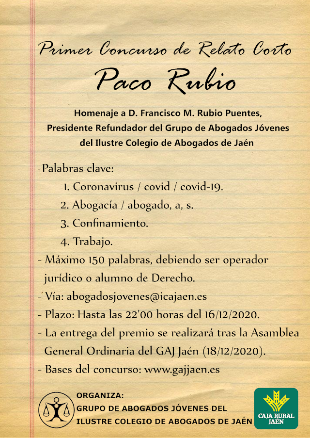 Relatos del Primer Concurso de Relato Corto Paco Rubio