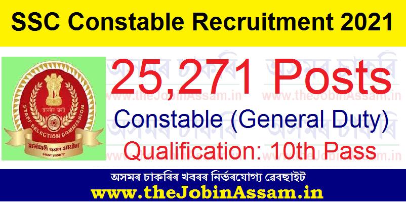 SSC GD Constable Recruitment 2021: