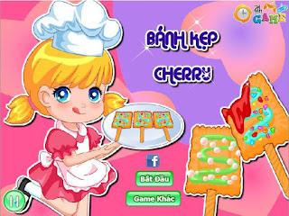 Game làm bánh quy cherry ngon la