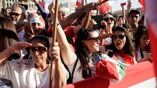 Insubordinate dissenters hold rival march on Lebanon autonomy day