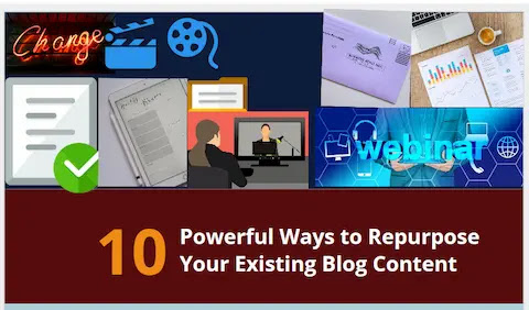 Repurpose blog posts into several actionable formats.
