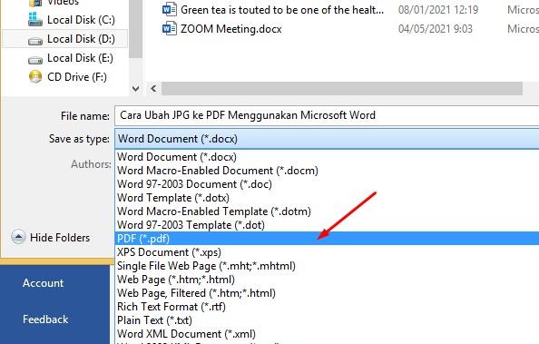 Cara Ubah JPG ke PDF Menggunakan Microsoft Word