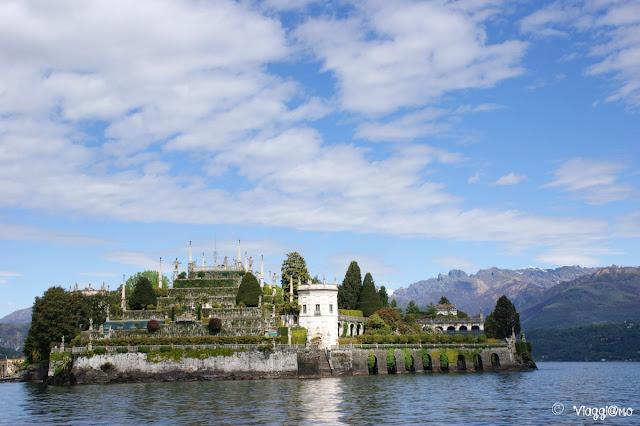 I giardini del Palazzo Borromeo sull'Isola Bella