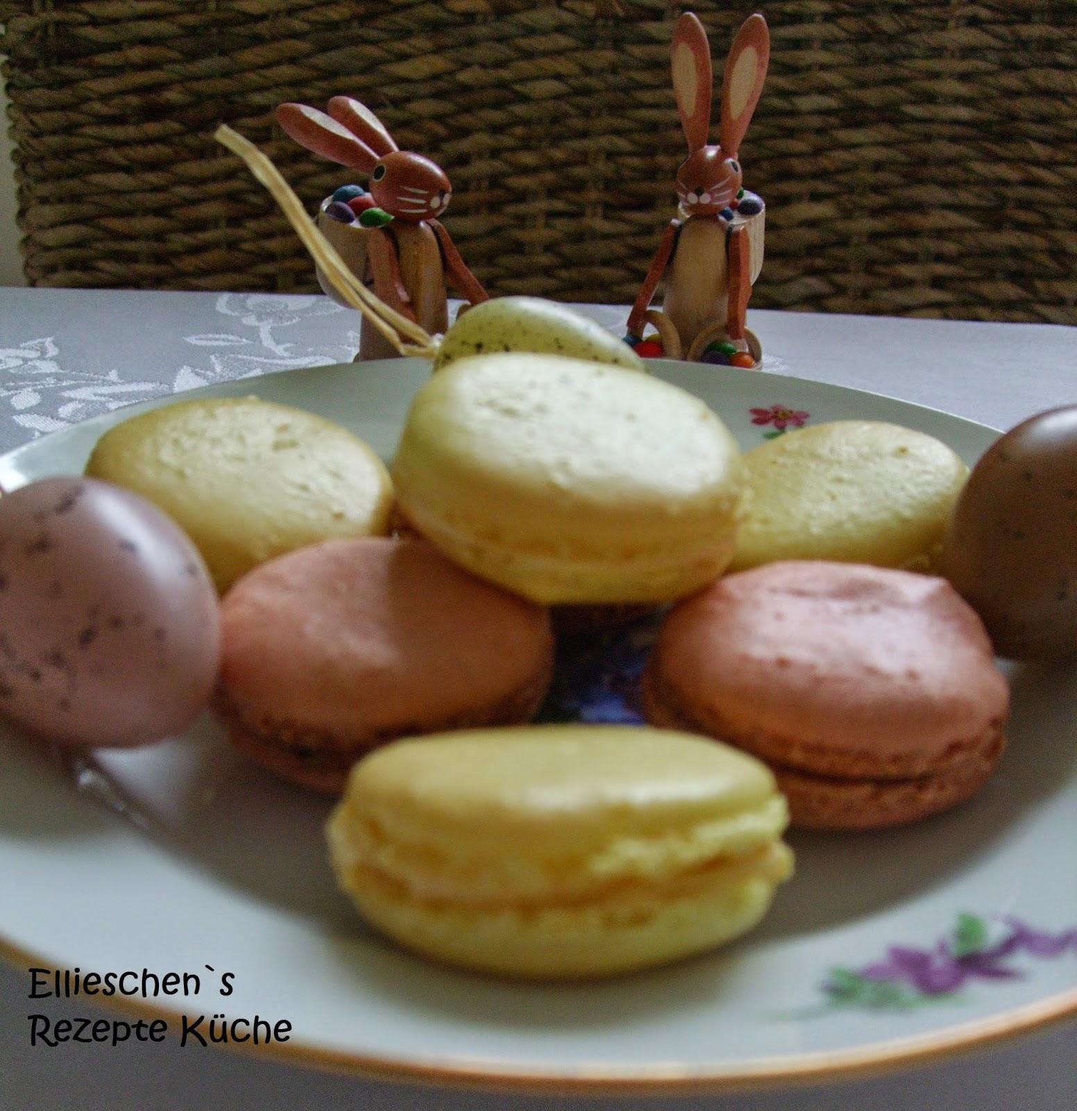 ellieschen s rezepte k che macarons gelb und rot. Black Bedroom Furniture Sets. Home Design Ideas