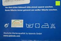 Waschsymbole: GOLD STERN Baumwolle Jersey-Stretch Spannbettlaken 140-160 x 200 cm, Apfel-Grün