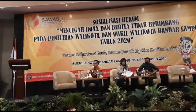 Bawaslu Laksanakan Sosialisasi Pencegahan Hoaks Terhadap Pemilihan Walikota Dan Wakil Walikota