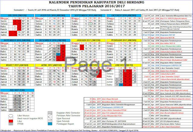 Kalender Pendidikan 2016/2017