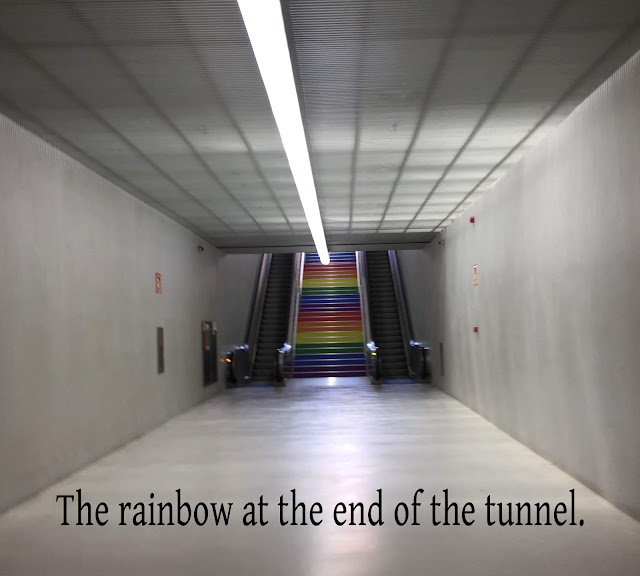 rainbow at the end of the tunnel