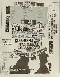 August 22-24, 1969 • Vancouver Pop Festival