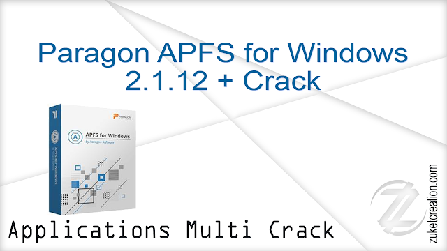 Paragon APFS for Windows 2.1.12 + Crack   |   37 MB
