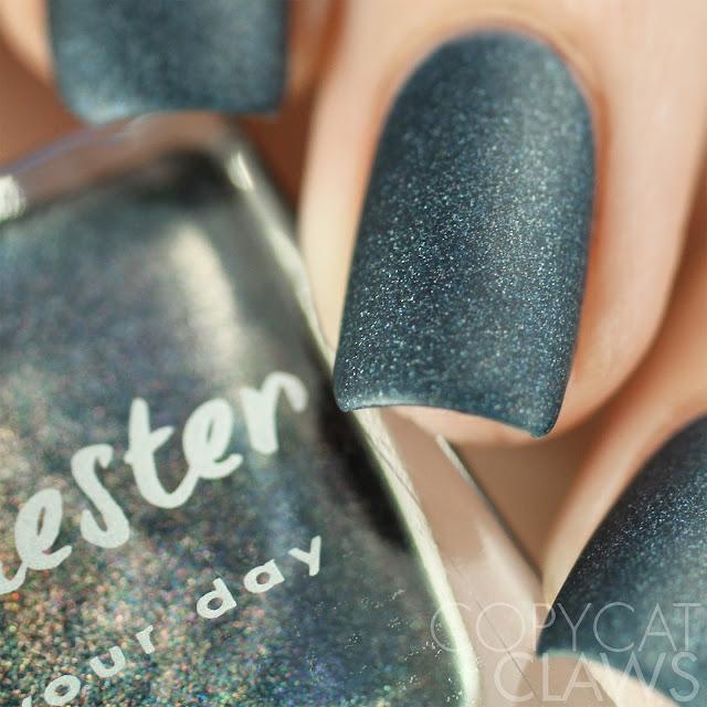 Lacquester Blue Matter Swatch Matte