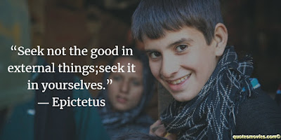 Epictetus Quote about seeking the good