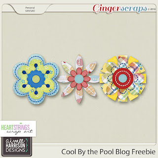 Creative Team, Annemarie, for Heartstrings Scrap Art CT - Cool by the Pool  and Coordinating Freebie