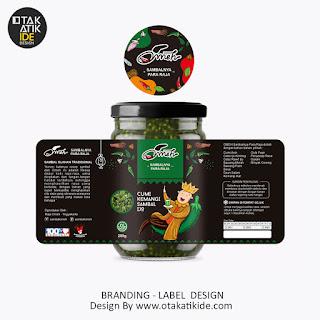 Jasa Desain label Produk Sambal