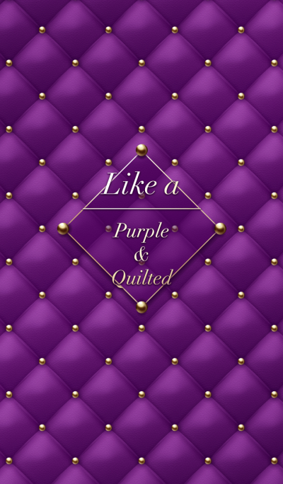 Like a - Purple & Quilted *Rain