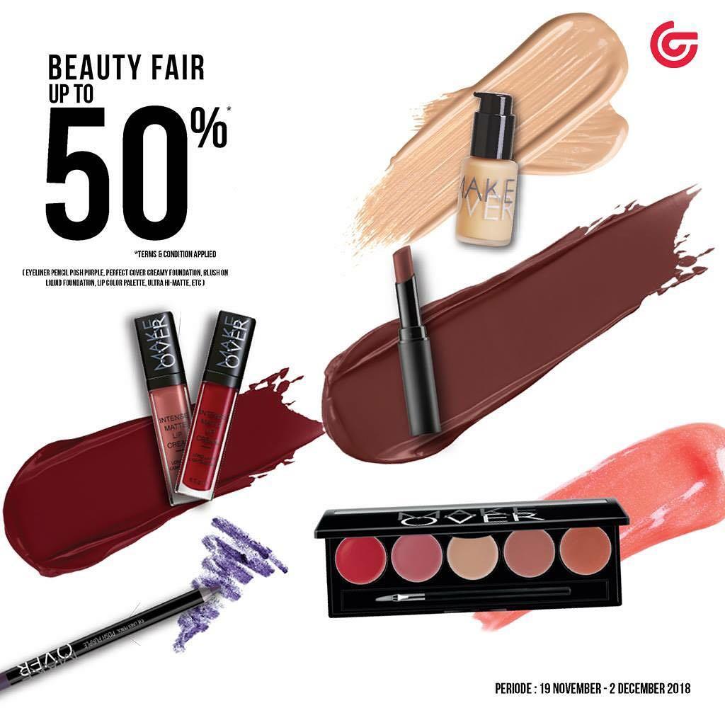 MatahariDeptStore - Promo Diskon s.d 50% di Beauty Fair (s.d 2 Des 2018)