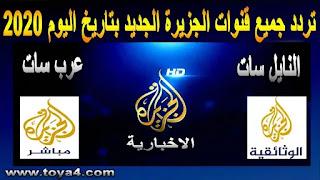 تردد قناة الجزيرة hd | الجديد بتاريخ اليوم 2020 على نايل سات والعرب سات