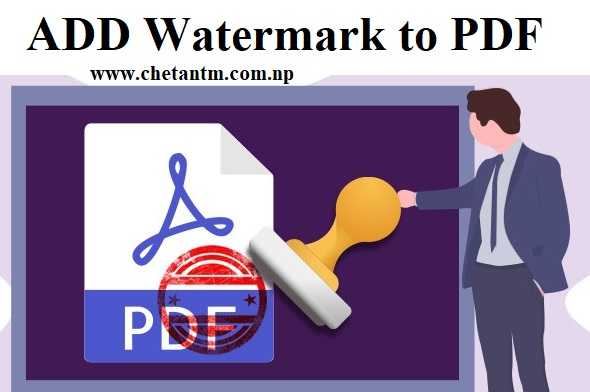 Add Watermark and Stamp in PDF