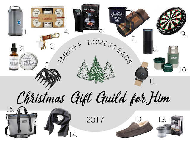 imhoff homesteads christmas gift guide for him 2017