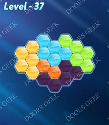 Block! Hexa Puzzle [Rainbow A] Level 37 Solution, Cheats, Walkthrough for android, iphone, ipad, ipod