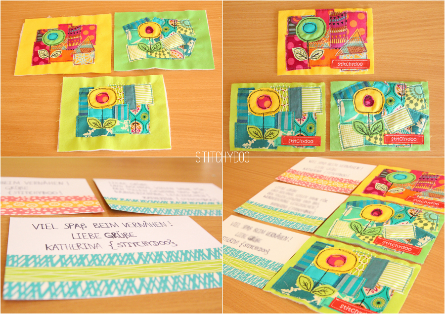 stitchydoo: Anleitung zum Nähen von Stoffkarten