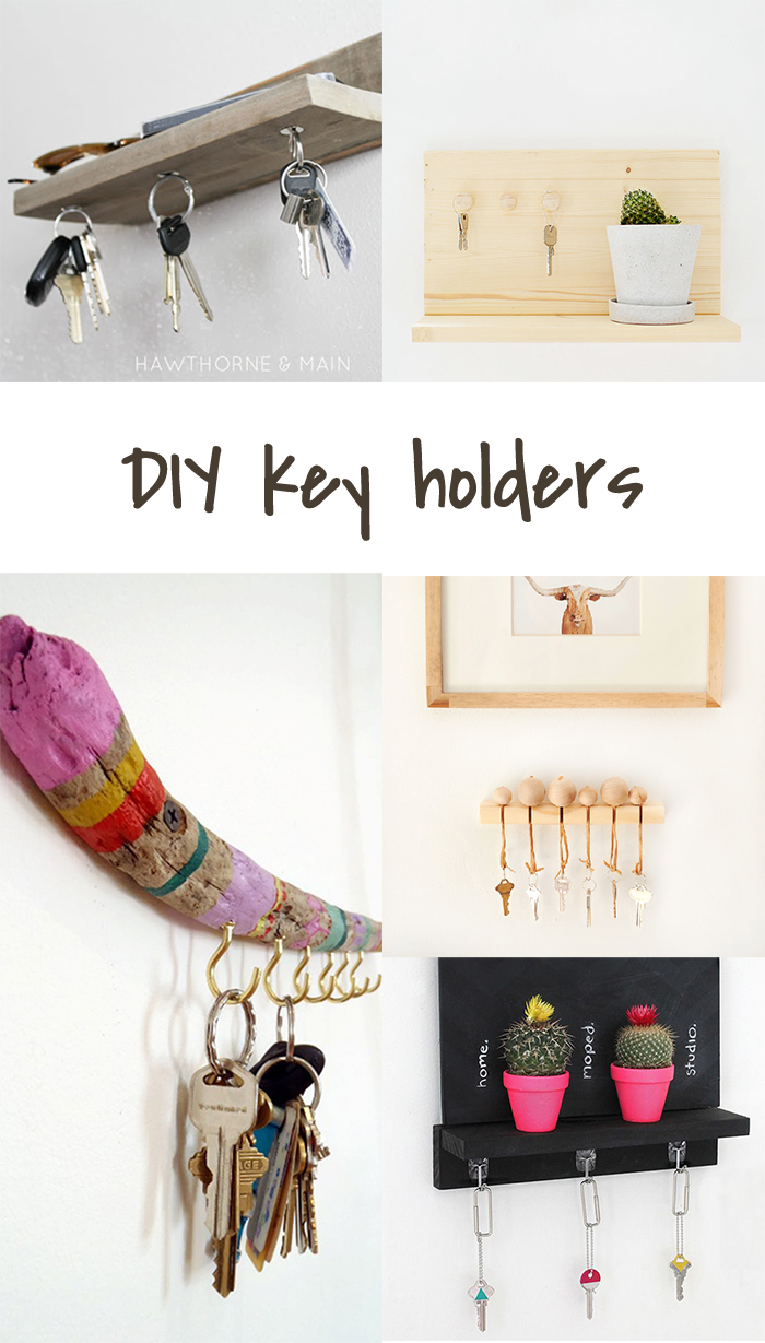 5 DIY to try # Key holders - Ohoh Blog