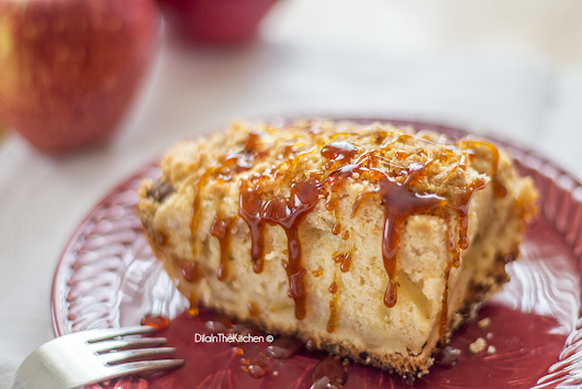 Karamel Soslu Elmalı Crumble Kek (Apple Crumble Cake With Caramel Sauce)