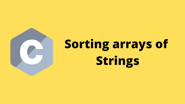 HackerRank Sorting Array of Strings solution in c programming