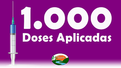 Mil doses aplicadas da vacina contra Covid-19