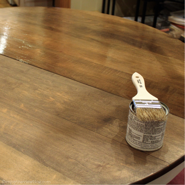 tabletop with cappuccino stain