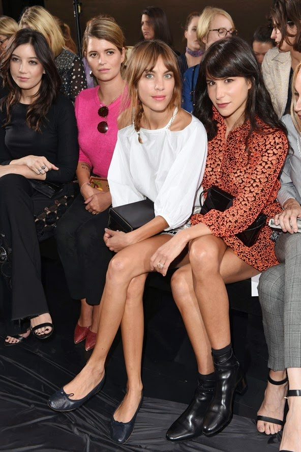 Daisy Lowe, Pixie Geldof, Alexa Chung and Caroline Sieber.