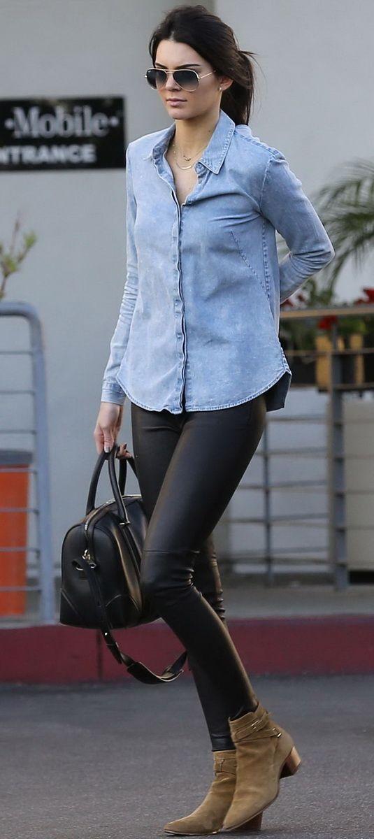 Chemise jeans Kelly Jenner