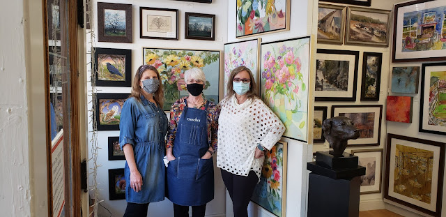 Merrill Weber Karen Weber and Mary Manning at Visual Expansion Art Gallery in West Chester PA
