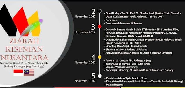 Brosur Ziarah Kesenian Nusantara 2017 Sumatra Barat. (Dok. Istimewa)