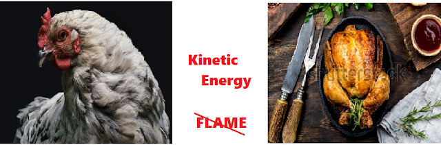 Kinetic Energy To Thermal Energy - How hard a chicken needs to be slapped to get it cooked ??