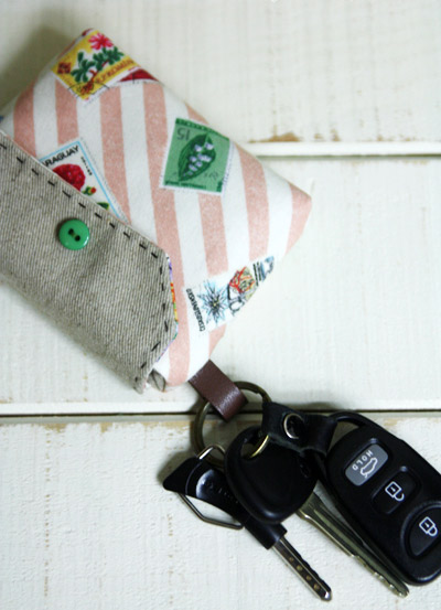 Card Wallet Key Chain Tutorial. DIY step-by-step in Pictures.