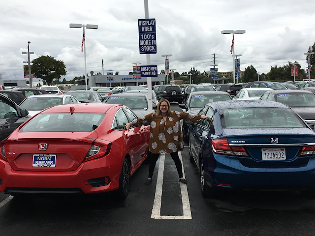 Jamie Allison Sanders, new car, Honda Civic