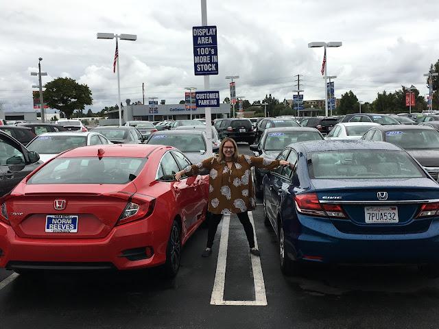Jamie Allison Sanders, new car, Honda Civic