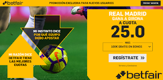 betfair supercuota liga Real Madrid gana Girona 26 agosto