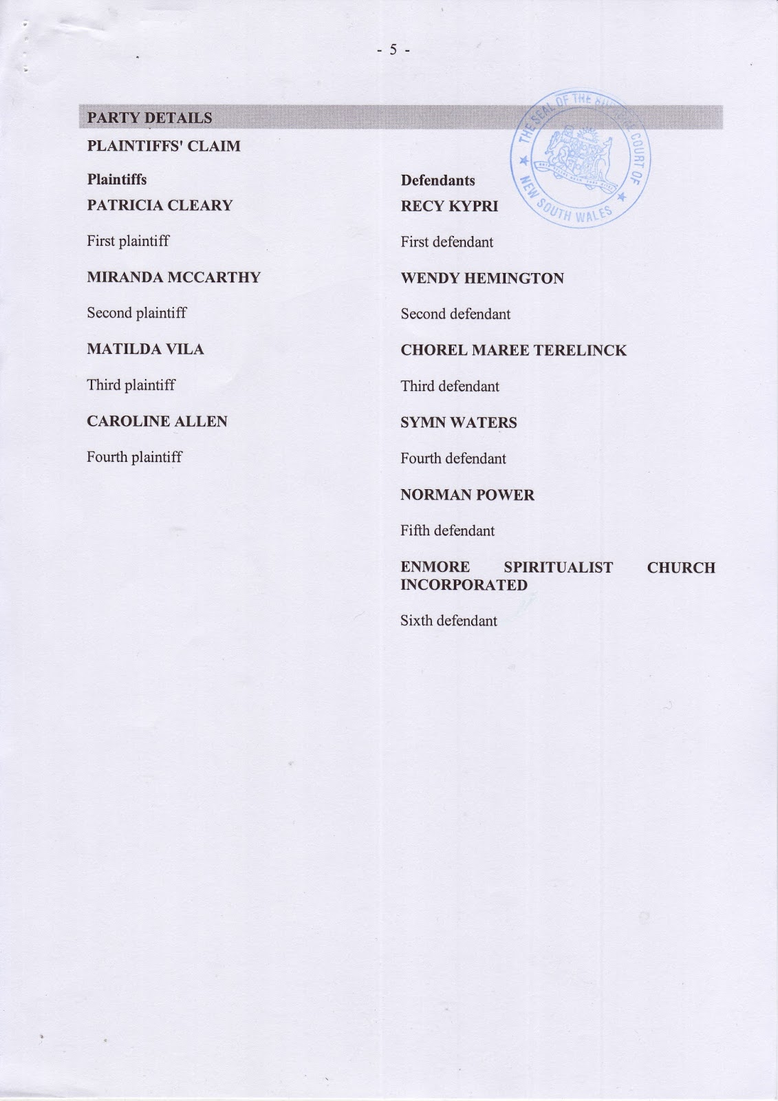 Full Judgment of Supreme Court Proceedings 2009/00291458-001 (then 5454/2009)