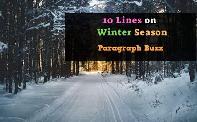 10 Lines on Winter Season in English