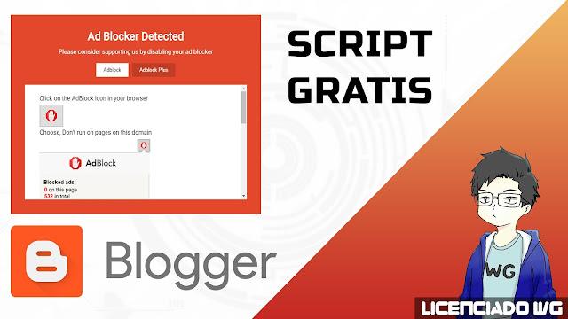 Adblock Script Blogger Gratis