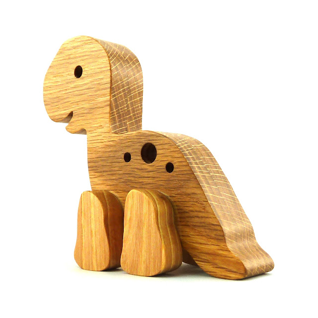 Handmade Wood Toy Longneck Dinosaur